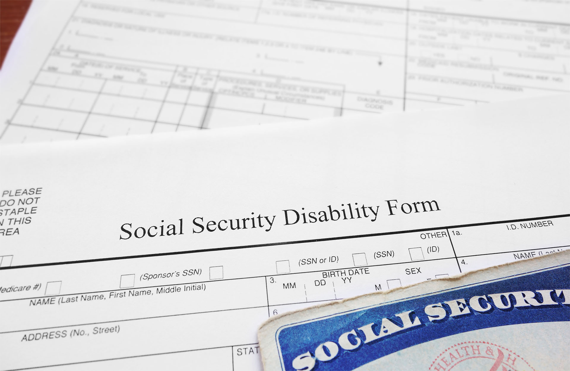 Photo of a Social Security Disability Form