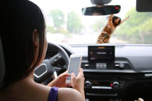 Photo of a Woman Driving Distracted in South Carolina